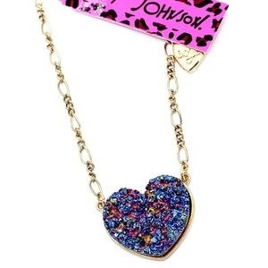 Betsey johnson Glittering Heart Pendant Necklace